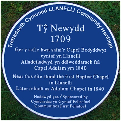 Adulum blue plaque Llanelli