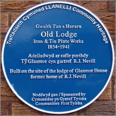 Old Lodge Iron & Tin Plate Works blue plaque