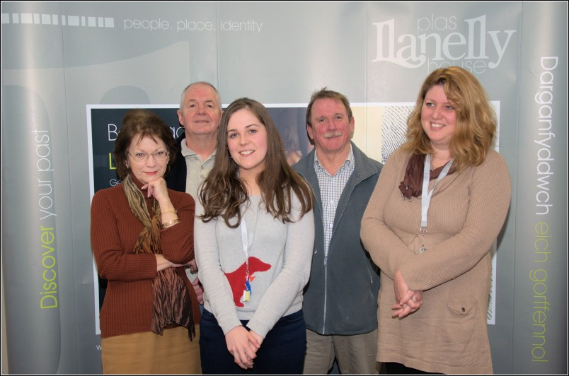 L-R Caroline Streek (LCH Secretary), Lyn John (LCH Vicechair), Catherine Stewart (Historical Content Developer), John Wynne Hopkins (LCH Chairman), Linda Coode, House Manager)