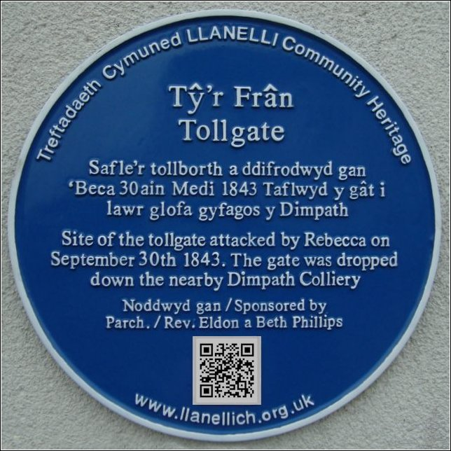 Tyr Fran blue plaque