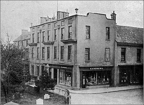Llanelly House 1900 showing the Andrews' shop front