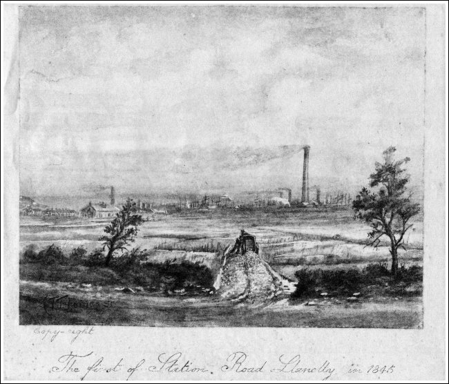 Station Road Llanelly 1845