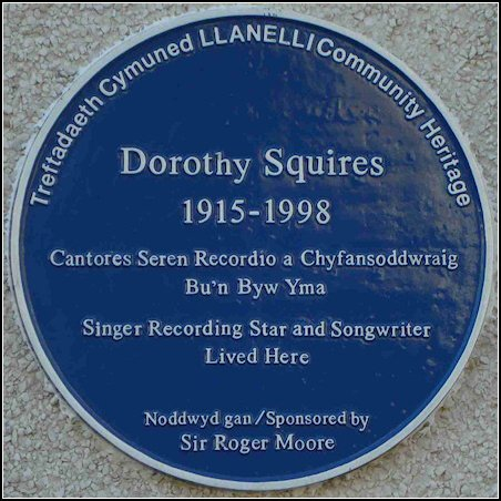 Dorothy Squires Blue Plaque