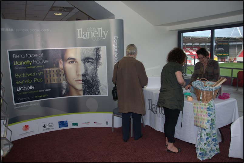 Lisa Bancroft Community Development Manager at the Llanelly House stand