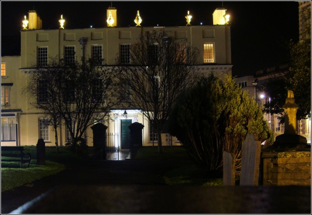 Llanelly House at Night