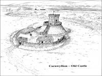 Carnwyllion Castle sketch