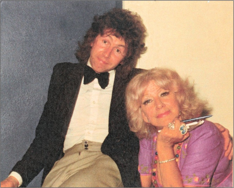 Dorothy Squires with Roger Forsyth of the group Andypandemonium. The photo was taken c1978 at either the Club Double Diamond in Caerphilly or Stoneleigh's Club in Porthcawl, which burnt down. I had written a song for her which I was hoping she would have recorded, unfortunately for me, she didn't. I had sung the song myself at a few gigs around that time and it usually had a good response.