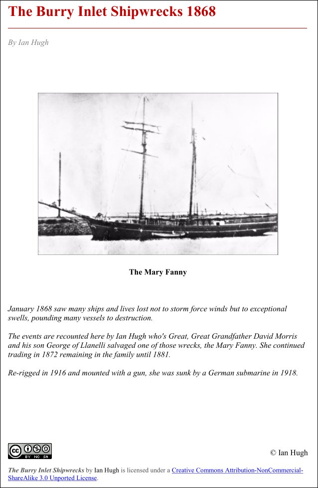 Burry Inlet Shipwrecks 1862